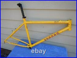 18 VooDoo Hoo Doo Vintage Mountain Bike Frame Yellow EXTRAS Ritchey Steel Voo