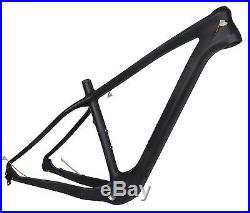 19 26er Carbon Fat Bike Frame Thru Axle Snow MTB UD Matt 4.8 197mm 12mm BSA