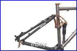 2008 Moots Mooto XZ Mountain Bike Frame Set 19in Large 29 Titanium FOX