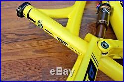 2013 Transition Covert CF CARBON Enduro Frame Mountain Bike Yellow Kashima Med