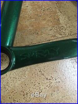 2016 Surly Krampus Mountain Bike Frame, Small, 29 Plus, Steel, Moonlit Green