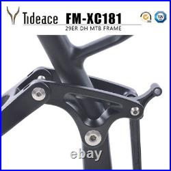 29er 19 Carbon Fiber Mountain Bike Frame Full Suspension 16538mm Shock Frames