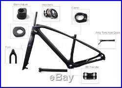 29er / 27.5er 3K Vollcarbon Mountainbike Frameset Fahrradrahmen + Gabel 15 -19