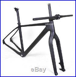 29er Carbon Mountain Bike Frame Fork Handlebar Stem 19 Matt 142mm Thru Axle BSA