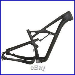 29er UD Matt Suspension Carbon Mountain MTB Bike Frames 15/17/19 Black Bicycle