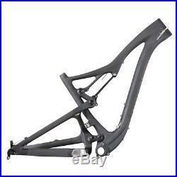 650B Full Suspension MTB Frame Carbon Mountain Bike Frame 15.5/17.5/19/21