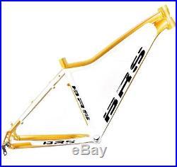 BRS Light Sport 1.2 26 Zoll Hardtail Mountainbike Rahmen 41cm weiss / gold