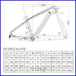 Bike Frame mountain frame 27.5er Full carbon 650B Black Matt/Glossy MTB Frame