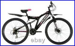 Boss Stealth Womens Full Suspension Mountain Bike 26 Wheel 18.5 Frame