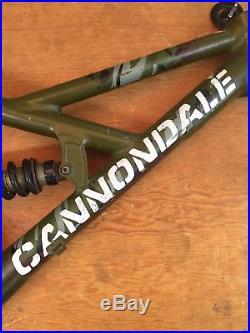 Cannondale Gemini 26 Full Suspension Mountain Bike Frame Medium Camo Green