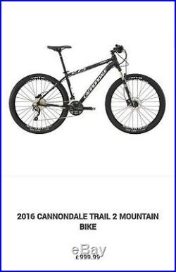 Cannondale Trail 2 er 29 bike mountain MTB bike Medium 18 frame RRP £1000