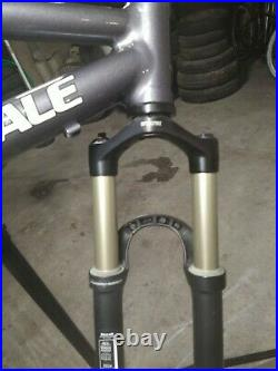 Cannondale full suspension mountain bike frame rock shox recon air fork