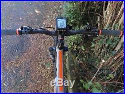 Carrera Vulcan E, Electric Mountain Bike, 18 Frame Grey/orange