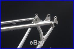 Chrome Reynolds 520 MTB Bike Frame Fork 27.5 650B Frameset Classic Silver