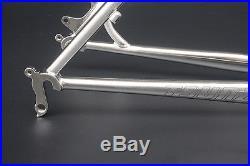 Chrome Reynolds 520 MTB Bike Frame Fork 27.5 650B Steel Frameset Classic Silver