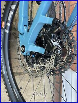 Cube Stereo 140 HPC Race Carbon Frame 20 Large Mountain Bike in blue/red