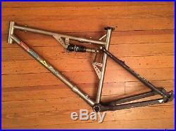 Dean Full Suspension Titanium S&S Coupler Travel Mountain Bike Frame 26 Large