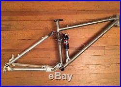 Dean Ventana Full Suspension Titanium Mountain Bike Frame 26 USA 16