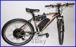 Electric Mountain E Bike 500W New 2017 Model Fireball Orange/Black 27.5 Wheels