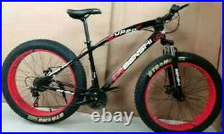 Fat Tyres 26 Mountain Bike 21 Gear Speed Frame Strong Suspension Carbon Frame