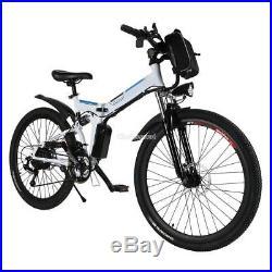 Foldable Men MTB Mountain Bike Electric Power Bicycle Alloy Frame 26 Wheels 36V