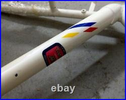 Fuji Cadenza MTB Stahlrahmen, Tange-CrMo, 48cm, weiß/blau, NEU, NOS, Retro