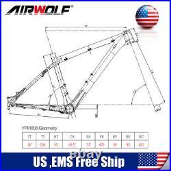 Full Carbon Fiber MTB Bike Frame 26er Mountain Bicycle Frameset 14inch 3K