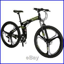 Full Suspension Folding Mountain Bike 21 Speed 27.5 Mens Bicycle Foldablt Frame