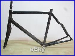 Full carbon 3K clear road bike frameset racing bicycle 700C 52/55/58 fork EMS R
