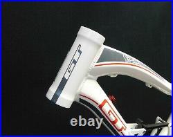 GT Sensor 1.0 26 Alloy Dual Suspension Frame Medium 120mm White w Black-Red New