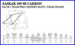 GT Zaskar 100 Team Carbon Mountain Bike Full Suspension Frame Silver XL 26