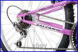 Girls Kids Mountain Bike Hector 24 Wheel Full Suspension Purple 14 Frame 8+