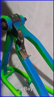 Klein Rascal 90's Gator Fade Hardtail Mtn. Bike Frame. FRAME ONLY. SMALL 15