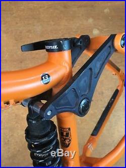 Kona Stinky 24 Childrens Full Suspension Mountain Bike Frame Orange
