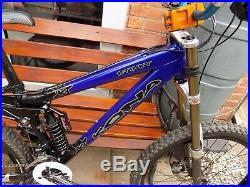 Kona Stinky Full Suspension Mountain Bike 15 Frame Hydraulic Disc Brakes