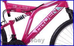 Ladies Bike Full Suspension Mountain Bike Blush 26 Wheel 19 Frame Pink MTB