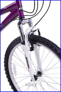 Ladies Mountain Bike Mountaineer 26 Wheel 16 Frame Womens Suspension Purple