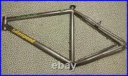 Litespeed Obed medium TITANIIUM mountain bike frame, awesome 1990s bling