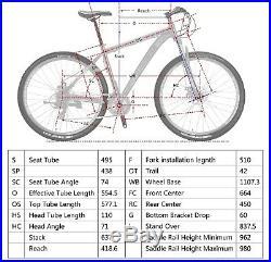 Mens Mountain Bike 29 Bikes Aluminium Frame Shimano 21 Speed Bicycle 29er