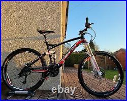 Merida 1-20 comp full suspension mountain bike 18 Medium frame 26 wheels