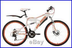 Mountain Bike 26 Full Suspension Bliss White-Orange 21 Gears Frame 47 cm 533M