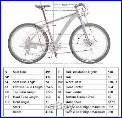 Mountain Bike 29 21 Speed Front Suspension Mens Bicycle Aluminium Frame MTB