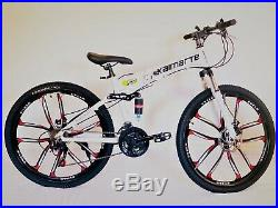 Mountain Bike / Bicycle Aluminium Folding Frame 21 Speed 26 Full Suspension