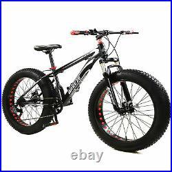 Mountain Bike Bicycle Fat Tire Men Women 26 INCH MTB Frame Suspension