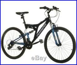 Muddyfox Recoil 26 inch Mens Mountain Bike, Black/Blue 26,18 Frame, 18 Speed