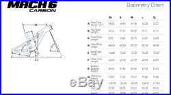 NEW 2015 PIVOT MACH 6 Carbon FRAMESET BLUE Frame Set Size M