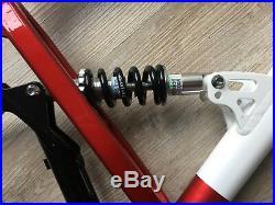 Neuer Alu MTB Mountainbike Rahmen dreifarbig Federung Kettenschaltung 26 Zoll