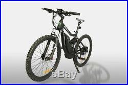 New 750 Watt Full Suspension Electric Mountain Bike 43kph! Medium Frame E Bike