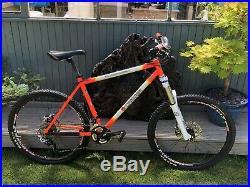 Orange Clockwork mountain bike Limited Edition. Only 200 Made. Steel Frame