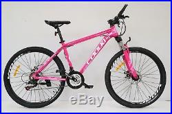 Pink 26 Alloy Frame Mountain Bike Bicycle Shimano 21 Speed Up To 5.9 Tall